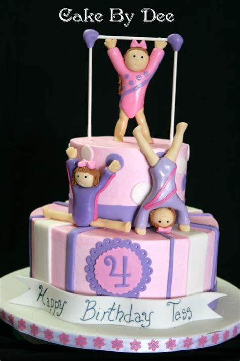 gymnastics cake  cakesbydee