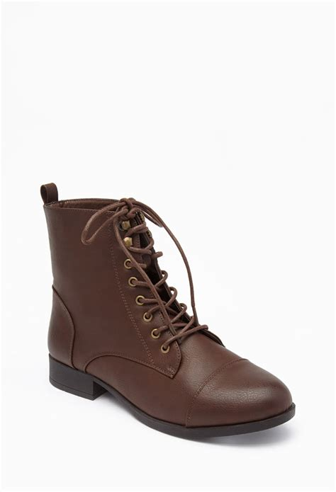 forever 21 plus size lace up faux leather boots wide in