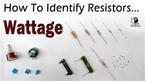 how to identify the resistor wattage both fixed variable resistors