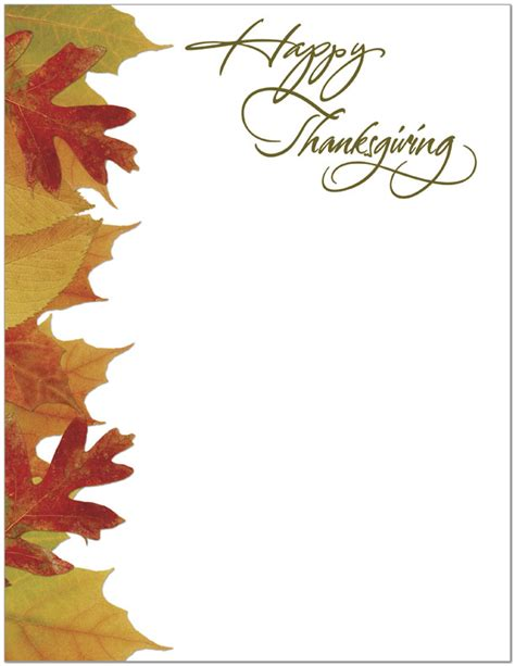 printable thanksgiving stationery thanksgiving letterhead business thanksgiving cards