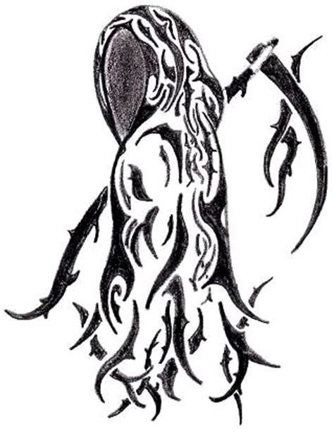 tribal reaper tattoo designs tribal reaper by korwynn on deviantart