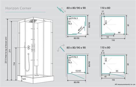 Kinedo horizon corner watertight sliding door shower cubicle pod 1100mm x 800mm