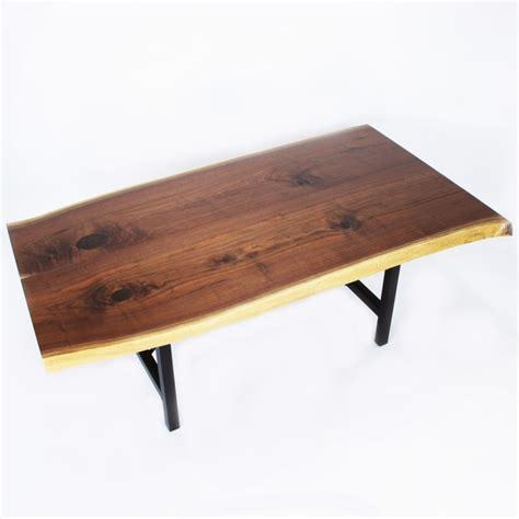 walnut bookmatch live edge table solid hardwood