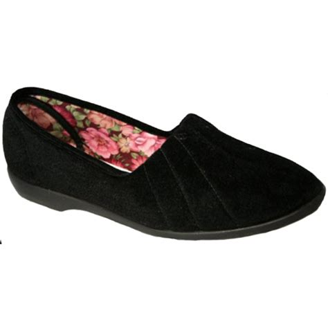marshalls slippers gbs womens black slip on slippers at marshall shoes