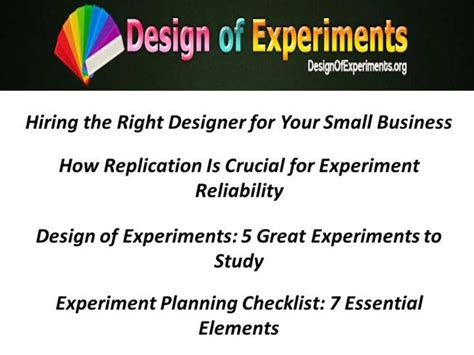 design of experiments powerpoint design of experiments authorstream