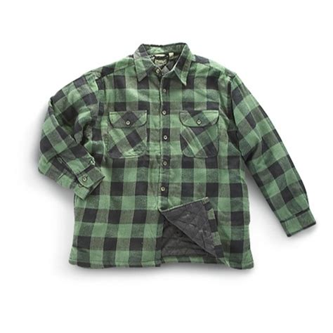 Quilted Flannel Jackets mountain ridge 174 quilted flannel shirt jacket 203347