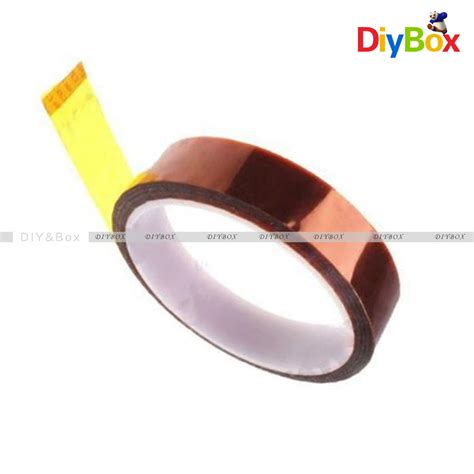 25mm Wide High Temperature Kapton Gold Color 25mm x 30m kapton sticky high temperature heat resistant polyimide ebay