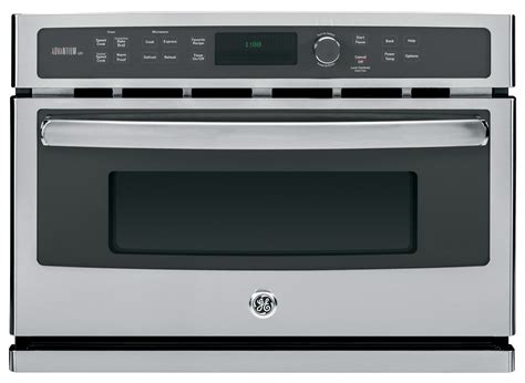 ge built in microwave ge profile series advantium 120v 1 7 cu ft built in microwave silver psb9100sfss best buy