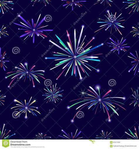 seamless pattern fireworks fireworks seamless pattern stock illustration image