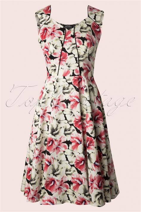 rose swing 50s lady rose swing dress
