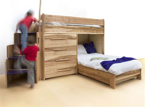 bunk beds with a futon furniture wood kids bunk bed with storage drawers
