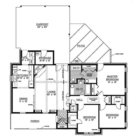 Dixieville Country Ranch Home Plan 020d 0096 House Plans Ranch House Plans With Bedrooms Together