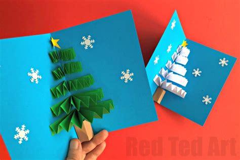 blue pop up card templates diy pop up card ted s