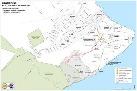 puna district adjusts  life  lava  pahoa hawaii