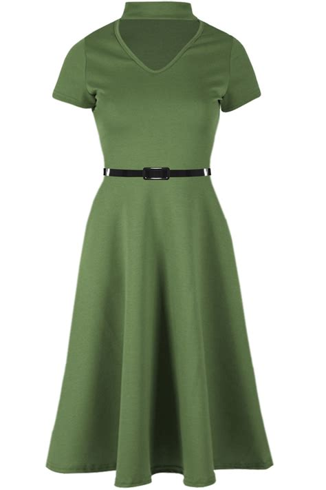 ladies swing dresses womens skater dress ladies belted cap sleeve flared swing