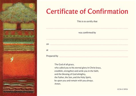 confirmation certificate template certificate of confirmation cc3a pack of 10