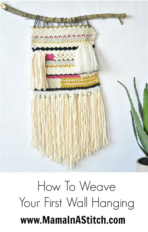 Wall Hanging Tutorial - loom woven wall hanging in a stitch