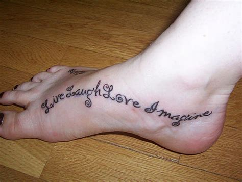 beautiful foot tattoos 30 awesome text designs for sheplanet