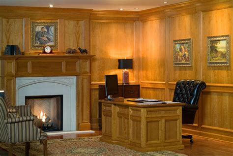 how to make wood paneling work wood paneled office