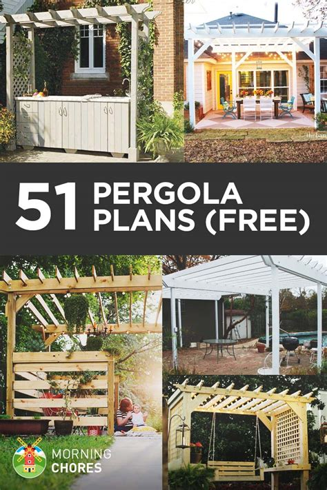 51 diy pergola plans ideas you can build in your garden