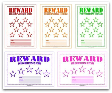 reward chart template for students search results