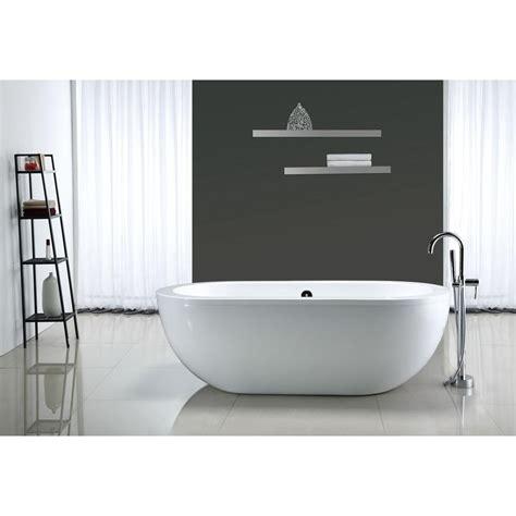 freestanding bathtubs under 1000 ove decors serenity 5 9 ft center drain bathtub in white