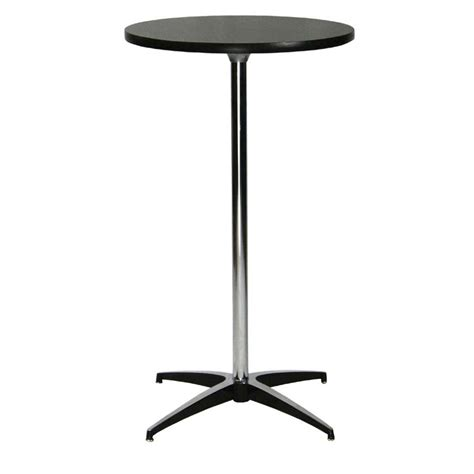Black Bar Table Bt400 Pedestal Bar Table Black