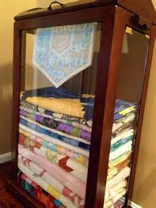 Curio Cabinet For Quilts My New Quilt Cabinet Quilts