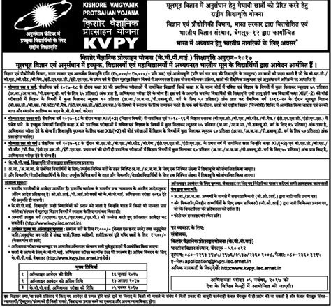 test pattern of kvpy kvpy scholarship 2018 registration form exam dates