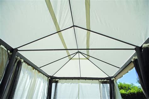 gazebo dimensioni gazebo professionale con tende rettangolare 3 x 6 gaz 063