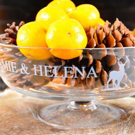 Roundhand 76 Cc personalised celebration bowl by jojo glass design notonthehighstreet