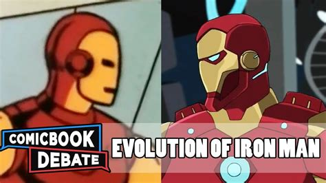 evolution iron man cartoons minutes