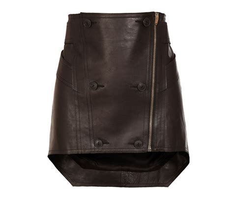 buy micro mini leather skirt with uneven hemline