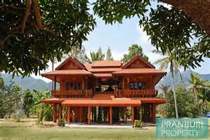 Small Lot House Plans newly built thai style teak wood house on 5 rai plot near