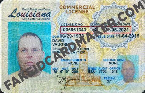 louisiana fake drivers license virtual fake id card maker
