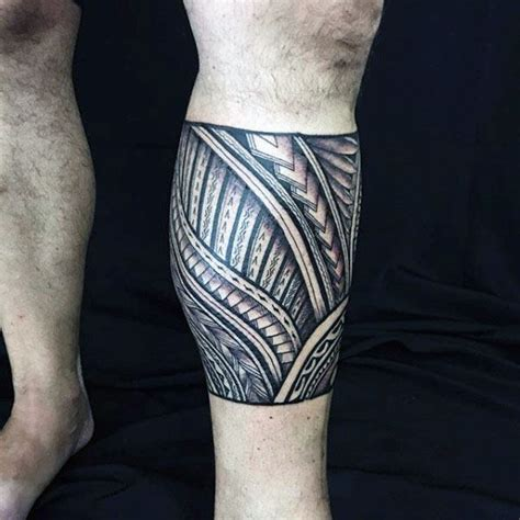 calf band tattoo collection of 25 lower leg tribal maori style band