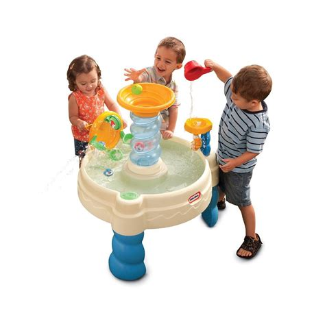 kids water table squirting balls cup funnel outdoor play
