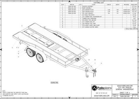 2500kg car trailer plans build your own car trailer