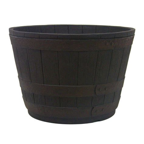 Home Depot Barrel Planter by Wood Barrels Pots Planters Garden Center The