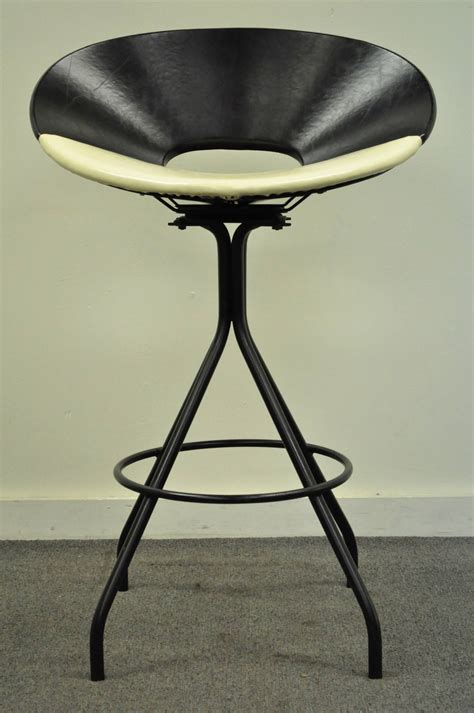 unique bar stool with ivy cap seating picciotto bar mid century modern italian style swivel wrought iron and