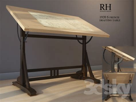 Drafting Table Restoration Hardware 3d Models Table Drawing Table Restoration Hardware 1920s Drafting Table