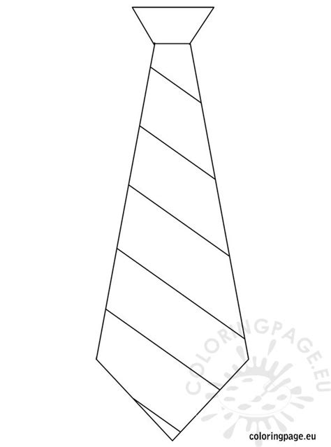 father s day template tie coloring page