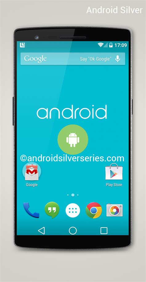 android silver gets turned into a render android l somehow in the mix concept phones
