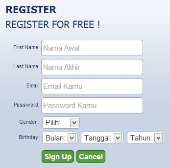 cara membuat form register html arian cyber membuat form register berbasis jquery