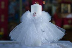 candela battesimale i sette sacramenti illustrazione di stock illustrazione
