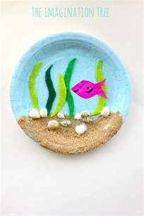 crafts using paper plates the sea paper plate craft the imagination tree