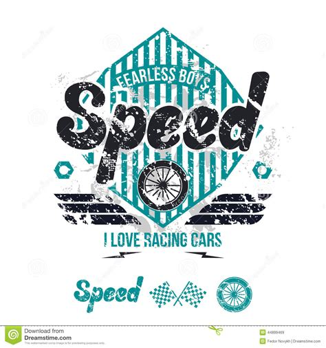 t shirt design background emblem of the racing car in retro style stock vector