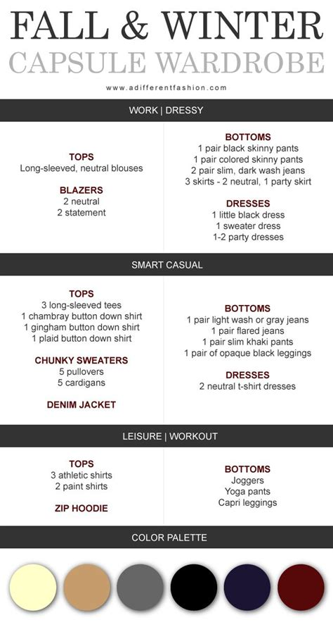 Fall Winter Capsule Wardrobe by Fall Winter Capsule Wardrobe Plan Via Adifferentfashion