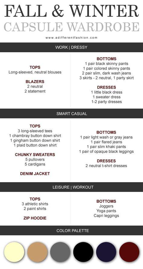 Winter Wardrobe Checklist by Fall Winter Capsule Wardrobe Plan Via Adifferentfashion
