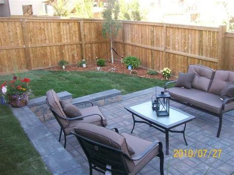 Simple Patio Ideas For Small Backyards Small Backyard Idea Backyard Small Patio Patio And Entertaining